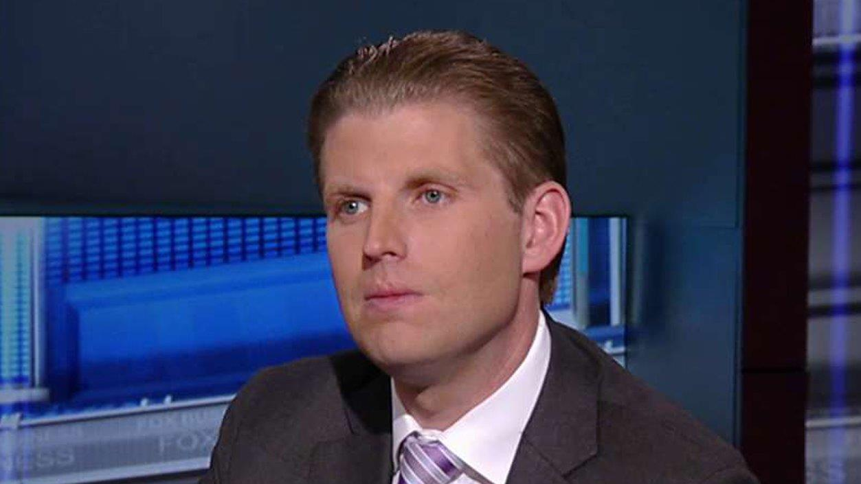 Executive Vice President of the Trump Organization Eric Trump on his dad's comments about Hillary Clinton, Senator Ted Cruz, and his dad's lead in the polls.