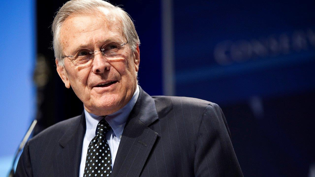 Former Secretary of Defense Donald Rumsfeld on the risks to Europe from radicals among the Syrian refugees and creating a new solitaire app.