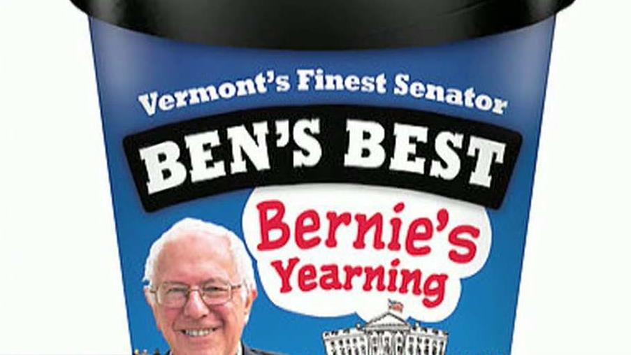 Ben and Jerry's Ice Cream founders Ben Cohen and Jerry Greenfield on the company's Bernie's Yearning ice cream and what Bernie Sanders' democratic socialist policies would mean for Americans.