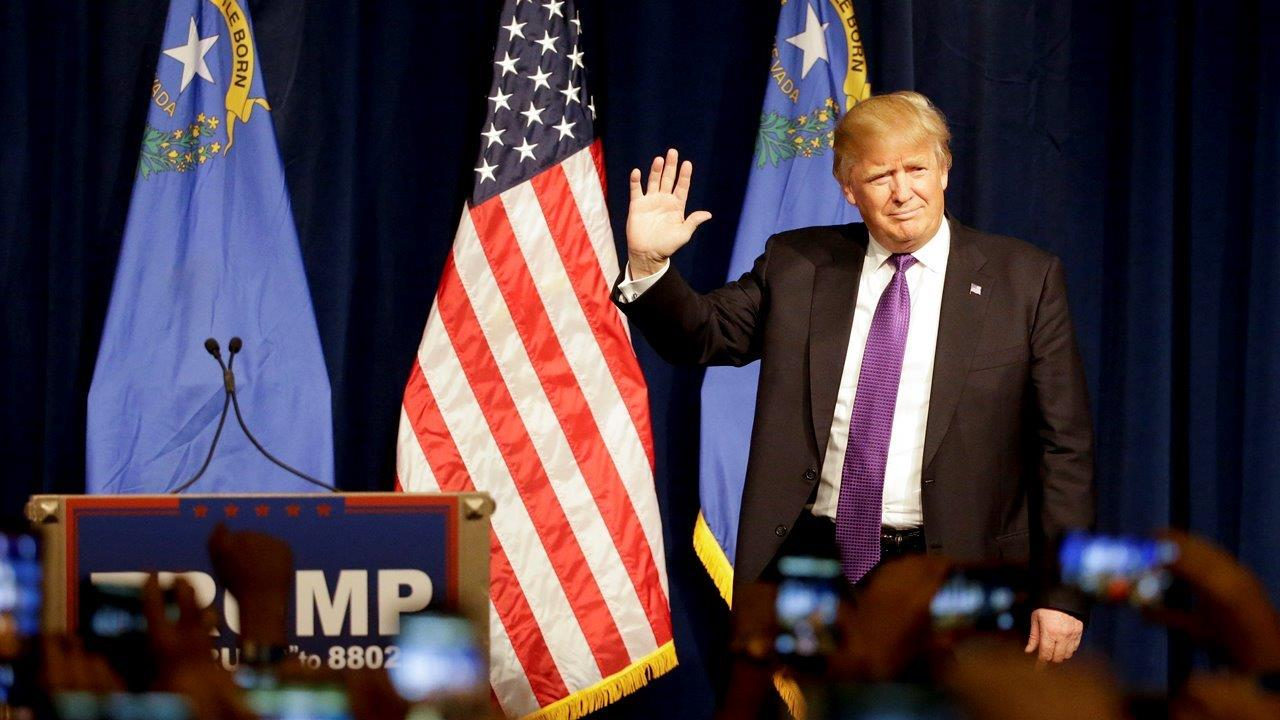 Republican presidential candidate Donald Trump thanks crowd following Nevada victory and reiterates calls to make America great again.