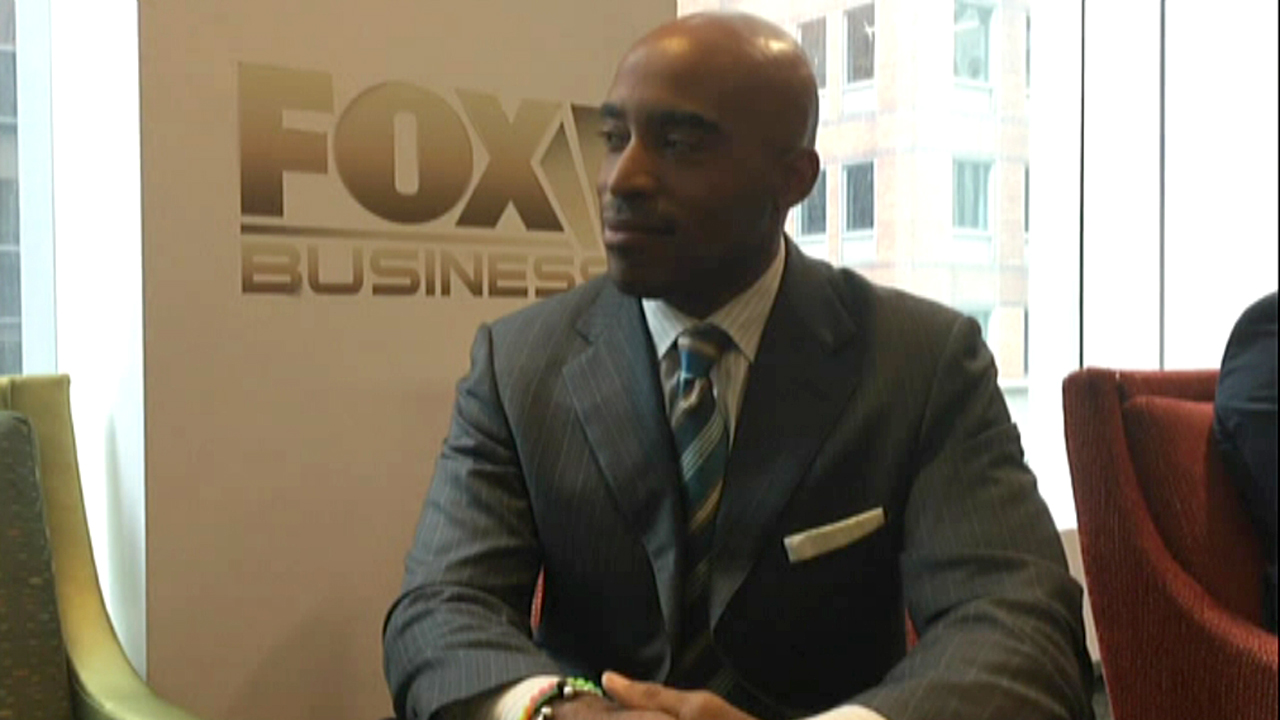NFL star-turned-entrepreneur Tiki Barber praised his former New York Giants Michael Strahan's TV hosting chops during an interview with FOXBusiness.com.