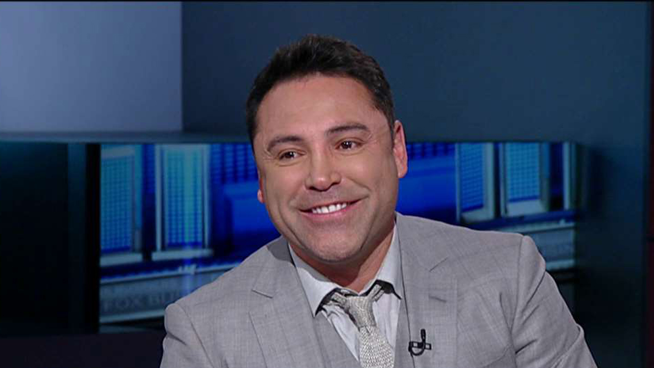 Former Golden Boy Promotions Chairman and CEO Oscar De La Hoya discuss the political landscape and invites Donald Trump to the Canelo Alvarez vs. Amir Khan Fight.