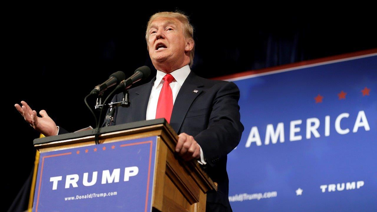 Republican presidential candidate Donald Trump on Republican unity and his tax proposal.