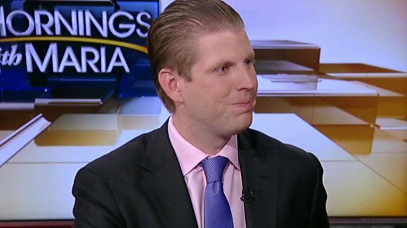 Trump Organization Executive V.P. Eric Trump on the war on terrorism and his father Donald Trump's U.S. trade policy.