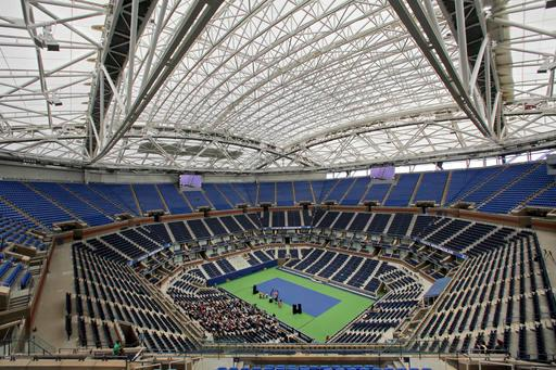 The USTA officially unveiled the new-state-of-the-art retractable roof over Arthur Ashe Stadium.