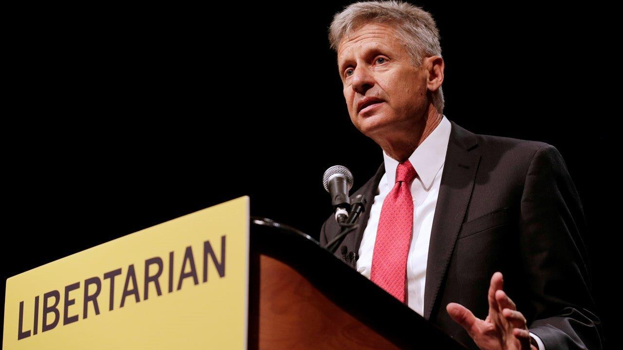 Libertarian presidential candidate Gary Johnson on Hillary Clinton's health, his own health, the refugee crisis in Syria and efforts to get the poll numbers needed to participate in the presidential debates.