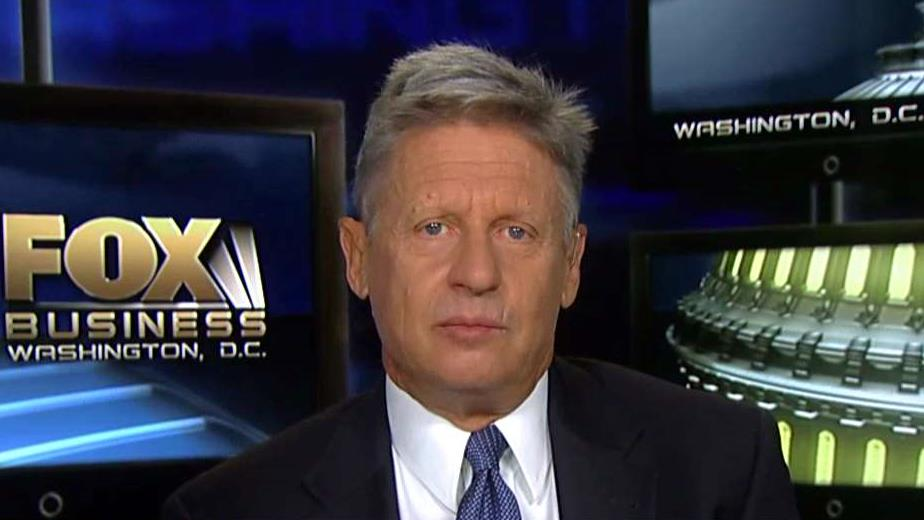 Libertarian presidential candidate Gary Johnson on the 2016 presidential race, entitlement reform and the AT&T deal to acquire Time Warner.