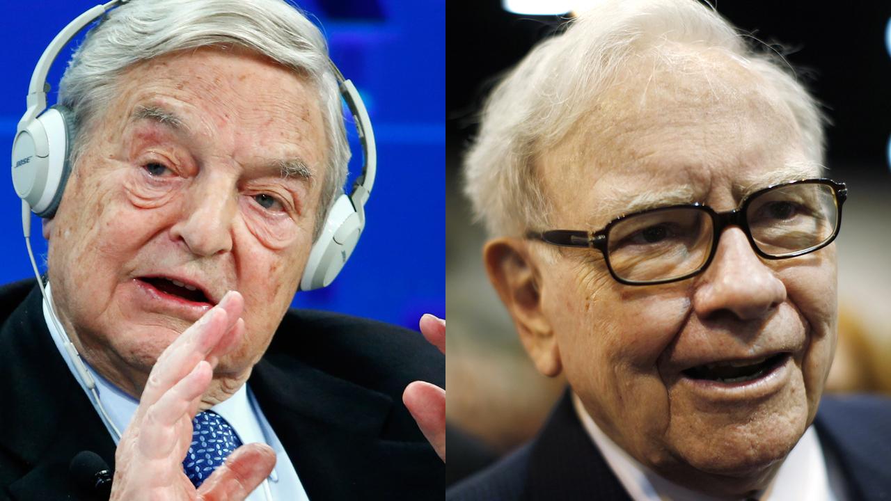 Republican presidential nominee Donald Trump slams billionaire investors George Soros and Warren Buffett on their business records.
