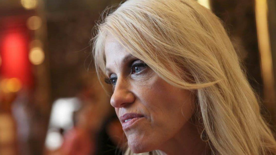 Trump campaign manager Kellyanne Conway reacts to the decision made by the FBI  that Hillary Clinton should not face charges over her use of a private email server during her tenure as Secretary of State.