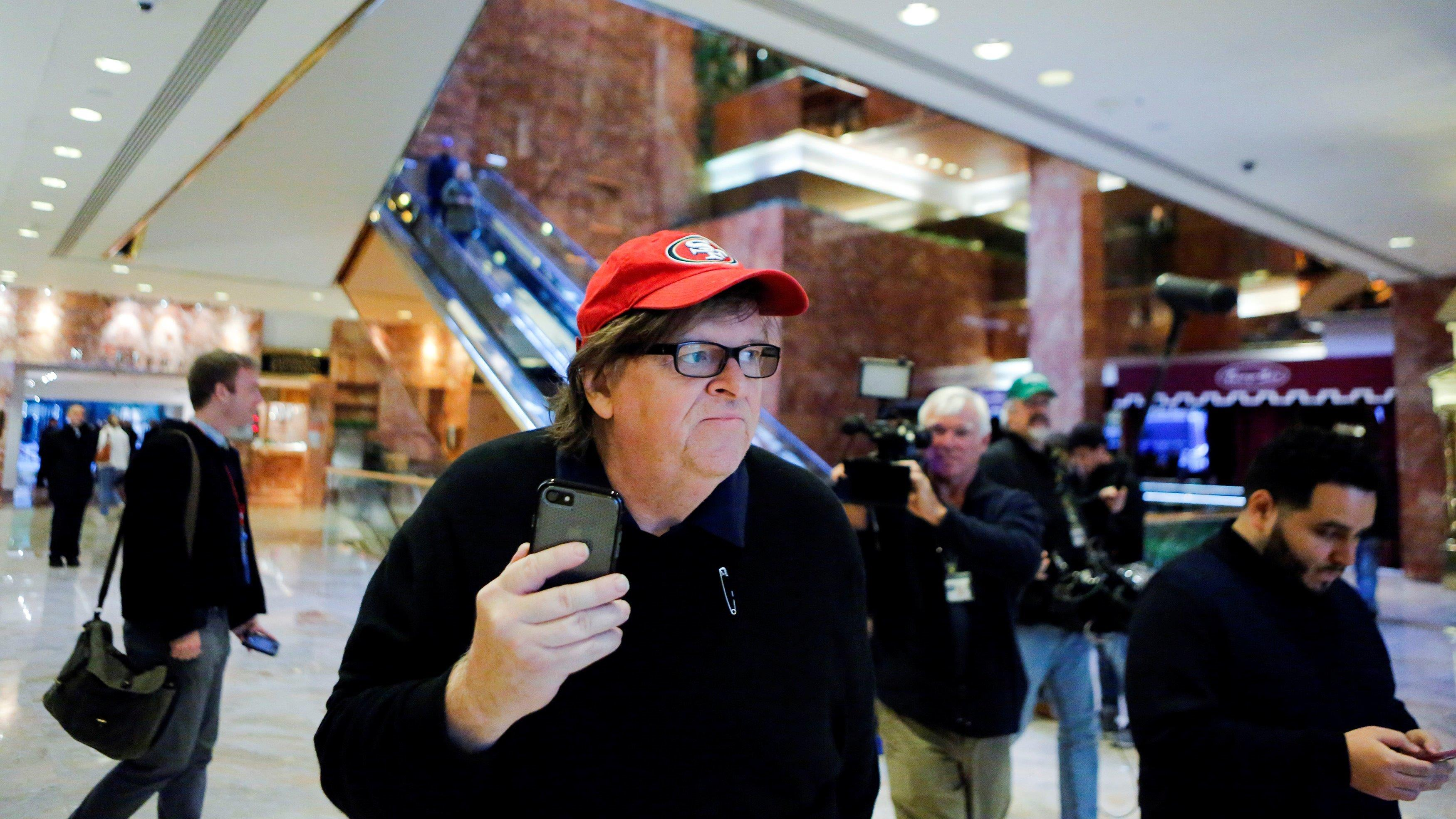 'Michael Moore Is a Big Fat Stupid White Man' co-author David Hardy on the filmmaker's plans to disrupt the inauguration.