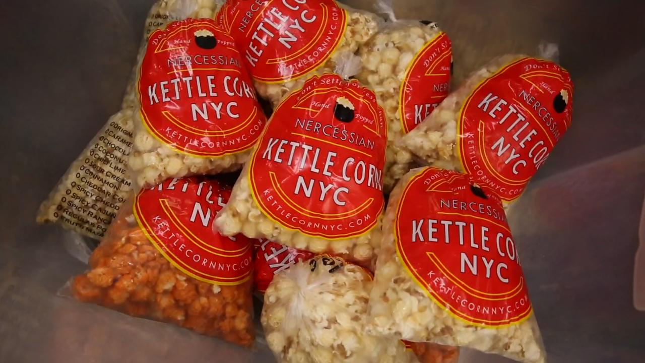 Ken Nercessian, owner of Kettle Corn NYC, went from chef to small business success.  He shares his kettle corn secrets to success on National Popcorn Day!
