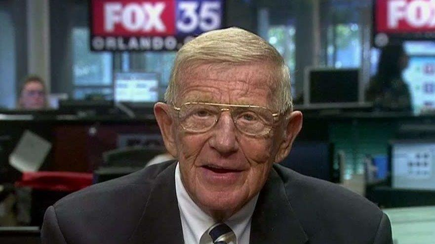 Former Notre Dame Football Coach Lou Holtz on Trump's language on Twitter, Meryl Streep's Golden Globes rant and his predictions for Alabama vs. Clemson.