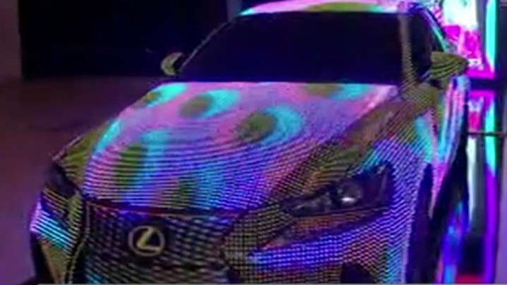 FBN's Cheryl Casone talks to Lexus General Manager Kirk Edmondson about the Lexus car covered in nearly 42,000 programmable LED lights.