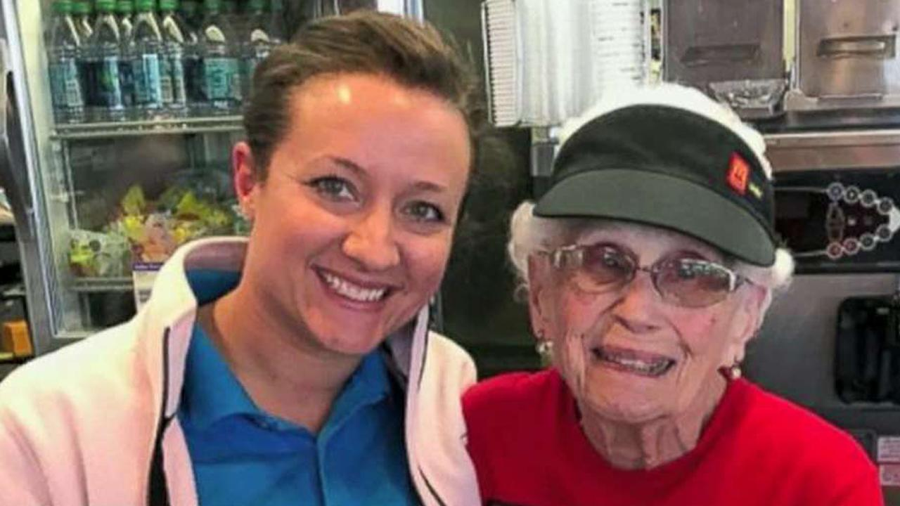 Former McDonald CEO Ed Rensi pays tribute to a 94-year old Indiana woman who's worked at McDonalds for 44-years.