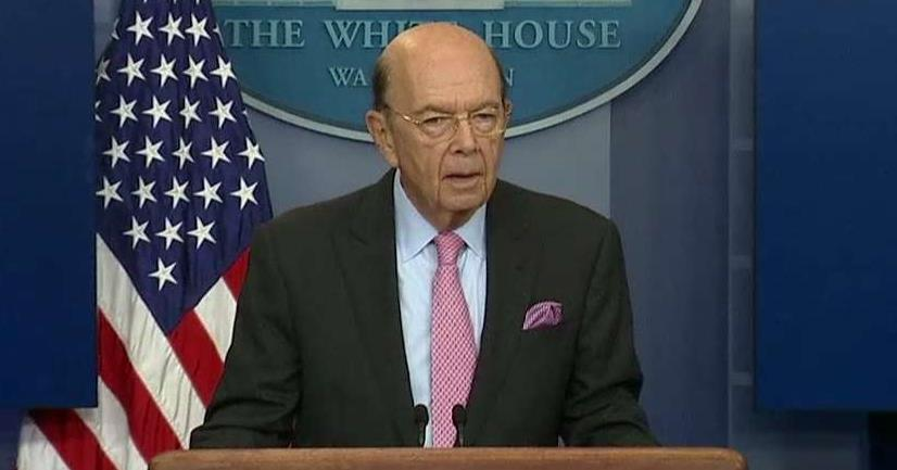 Commerce Secretary Wilbur Ross addresses the tariff on Canadian soft lumber imports during a press briefing.
