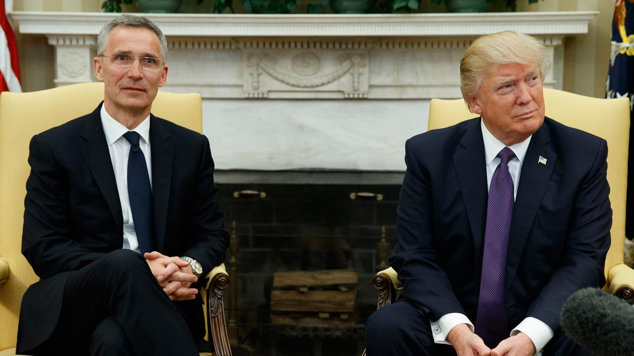 NATO Secretary General Jens Stoltenberg reacts to Syrian President Assad's chemical attack claims and meeting with President Trump.