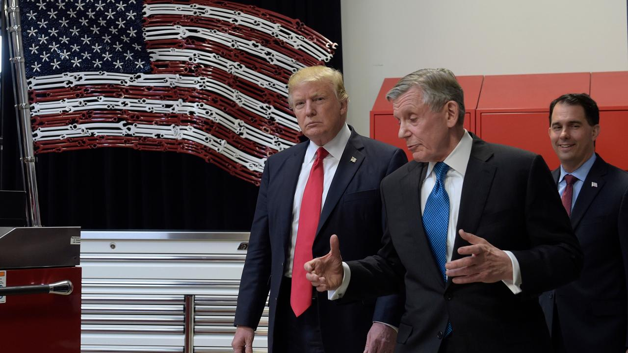 Snap-on chairman and CEO Nick Pinchuk on President Trump's visit to the company's headquarters in Wisconsin.