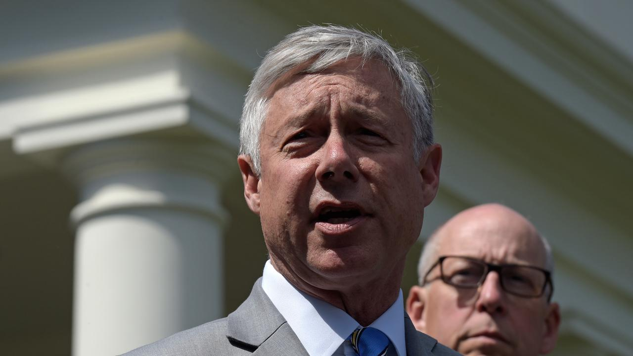 Rep. Fred Upton (R-MI) speaks to reporters on the likelihood that the GOP health care bill will get passed.