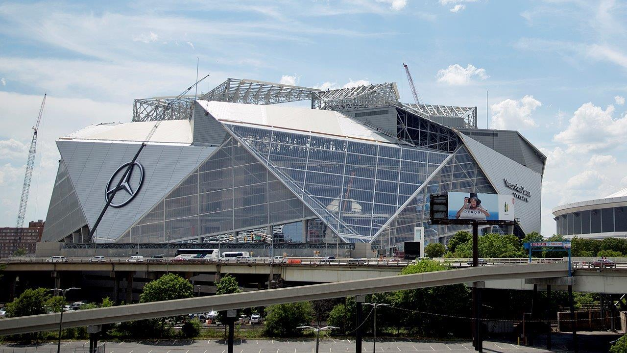 Atlanta Falcons owner Arthur Blank on safety at stadiums in the wake of the attack at the arena in Manchester, England, the amenities in the new Mercedes-Benz Stadium in Atlanta and the Falcons' Super Bowl loss last season.