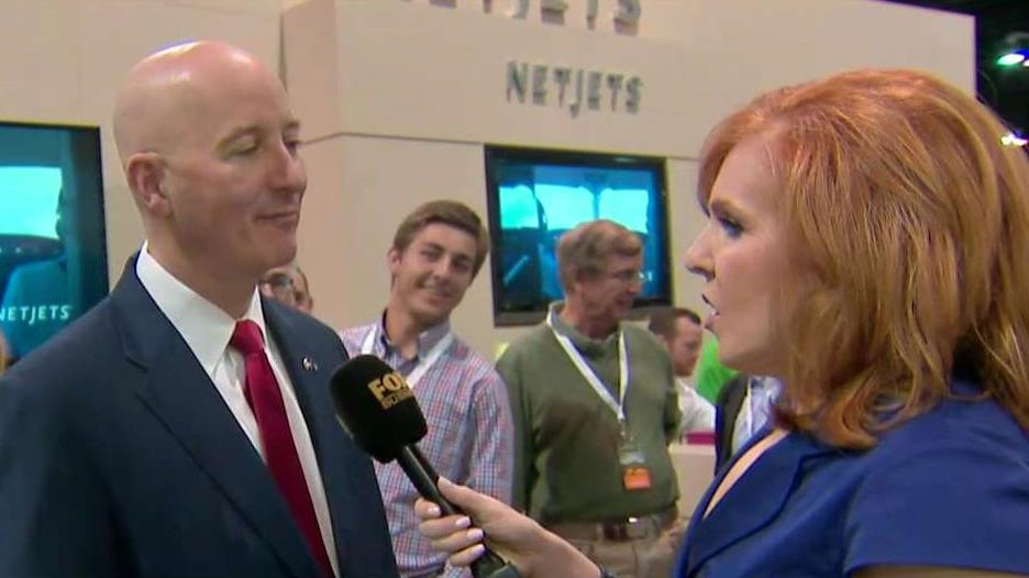 Nebraska Governor Pete Ricketts (R) discusses the state's workforce participation rate, Keystone Pipeline and the GOP health care bill vote.