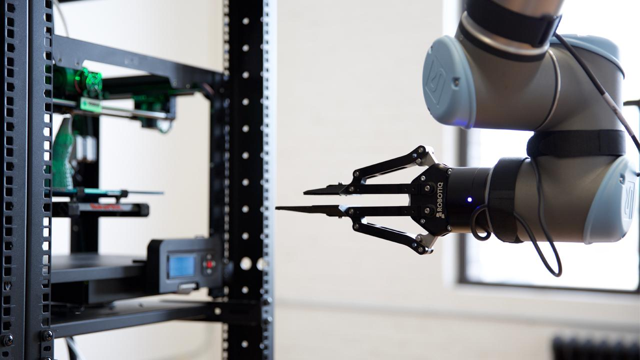 "A Brooklyn New York based 3D printing company, Voodoo Manufacturing, saw the need for production and embraced the idea of robotics in their day-to-day factory. Voodoo recently revealed Project Skywalker, a robotic arm that ""harvests"" completed printed model plates."