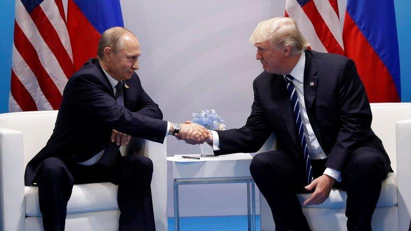 President Trump meets with Russian President Vladimir Putin at the G20 Summit.