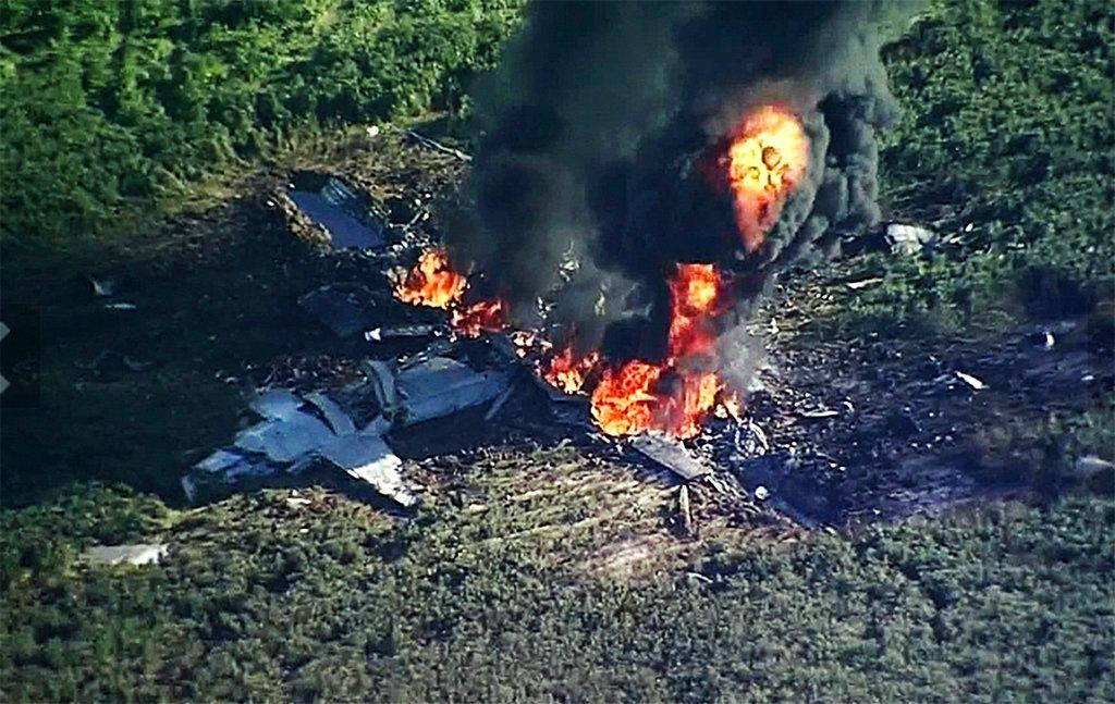 What caused the Marine plane crash Monday that killed 16?