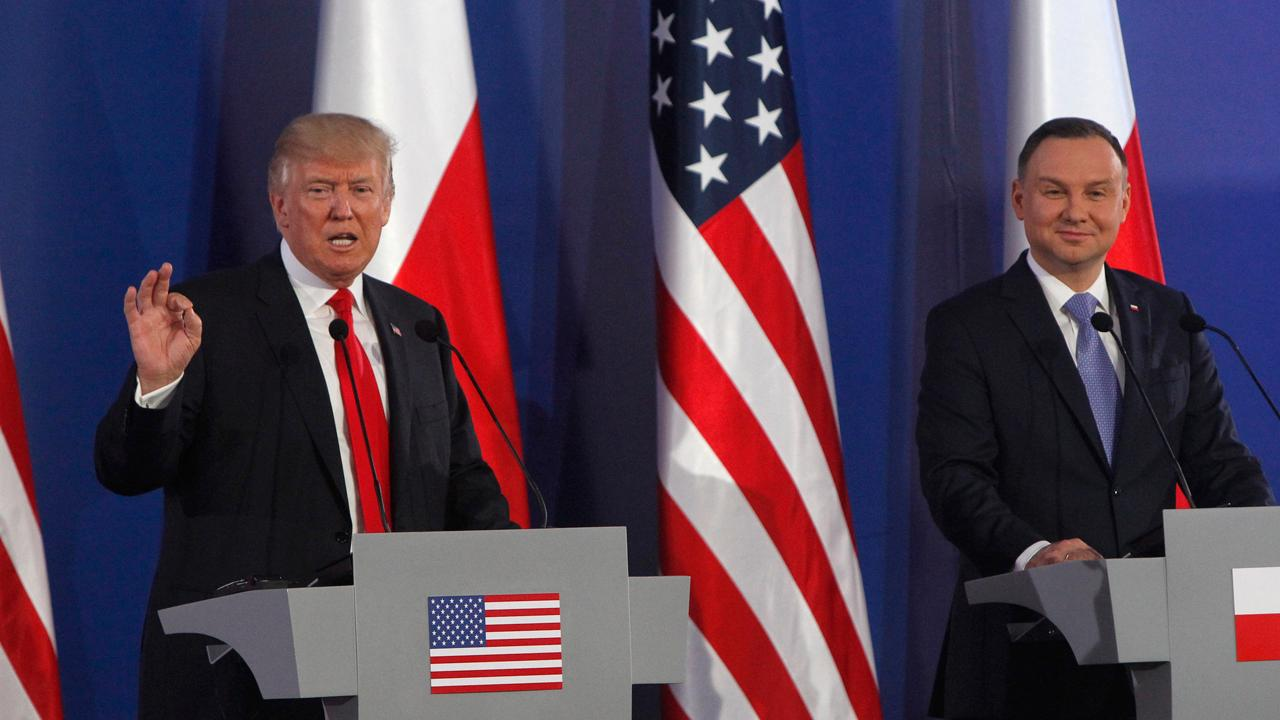 FBN's Blake Burman on President Trump's comments on North Korea at a press conference with the president of Poland.