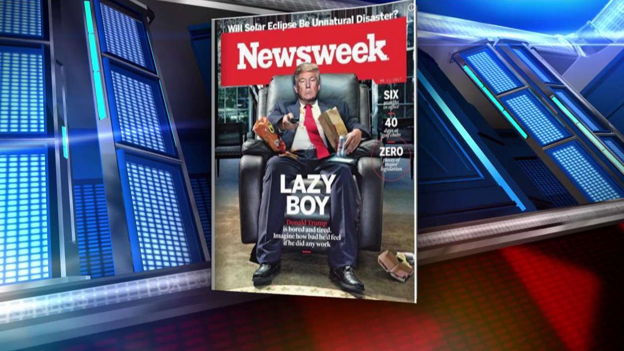 FBN's Neil Cavuto sounds off on the latest cover of Newsweek magazine depicting President Trump as a 'Lazy Boy.'
