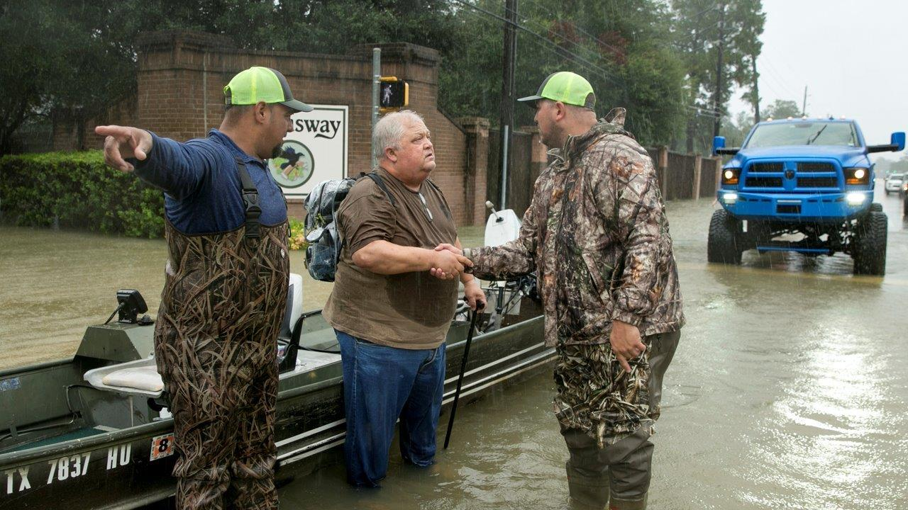 FBN's Stuart Varney says he was inspired by Americans during Harvey.
