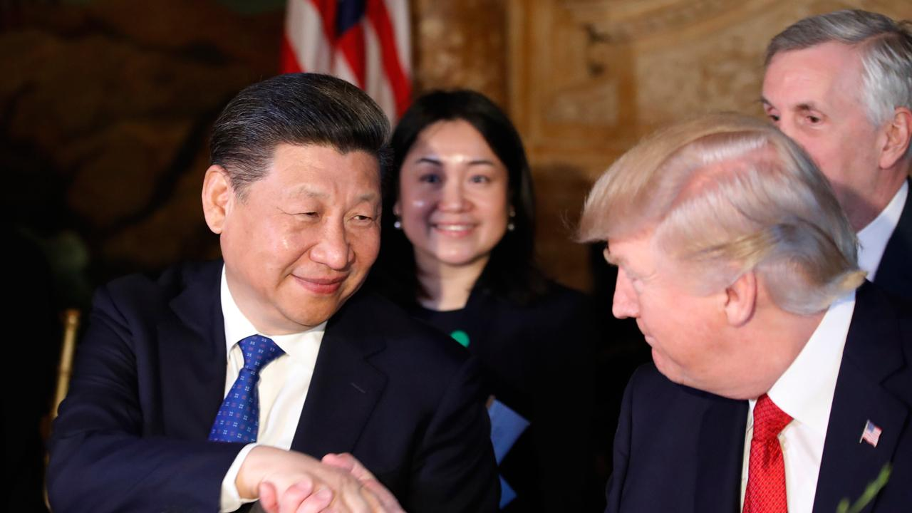 President Trump says that China's central bank has told banks to halt business with North Korea.