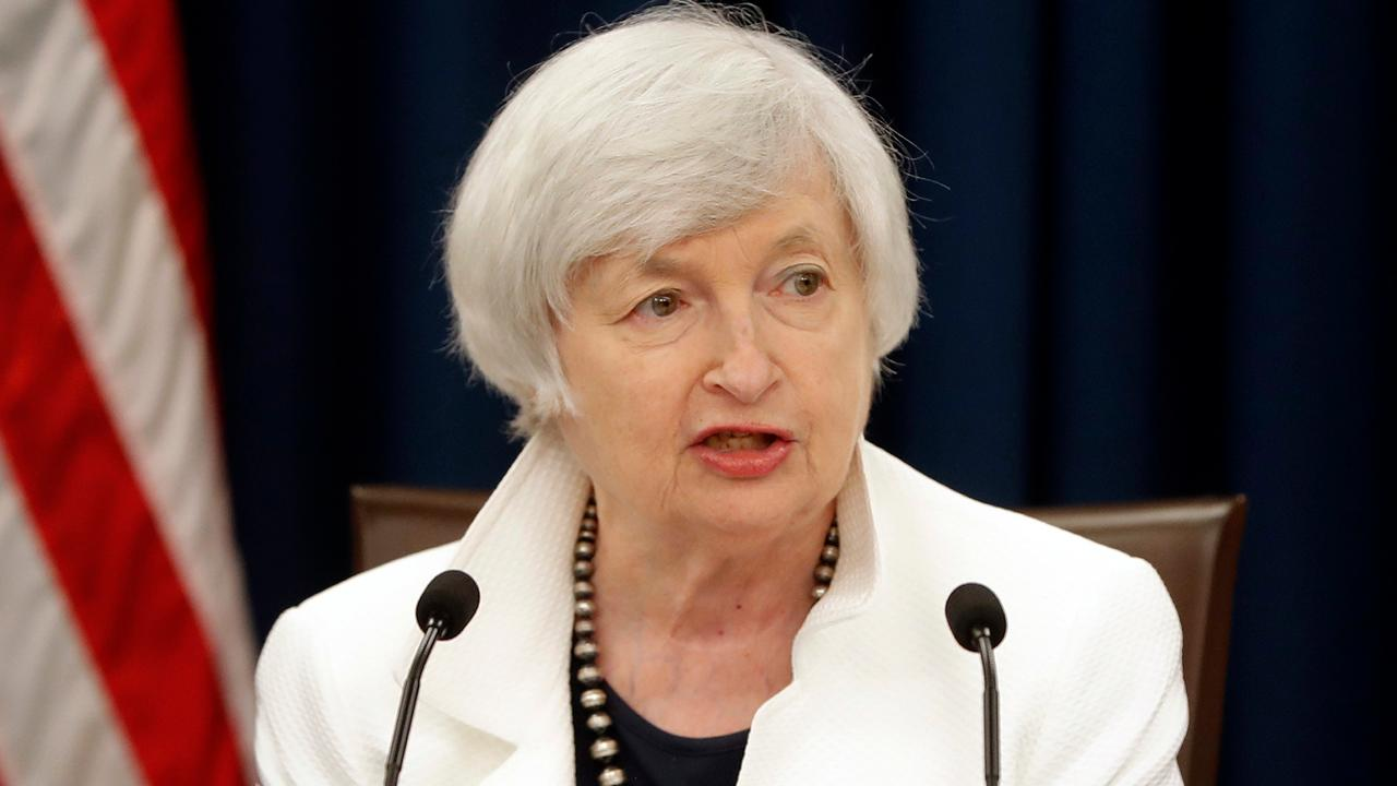 Federal Reserve Chairman Janet Yellen on maintaining the federal funds rate.