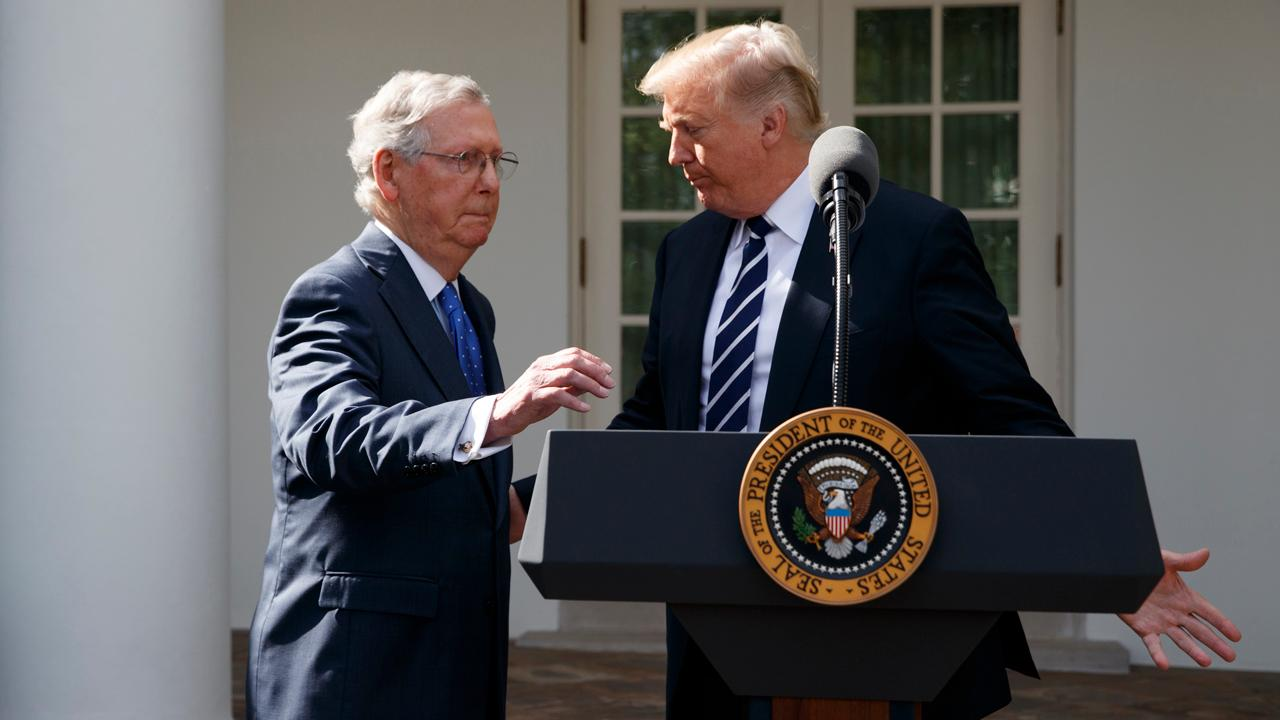 FBN's Lou Dobbs on President Trump's press meeting with Senate Majority Leader Mitch McConnell.