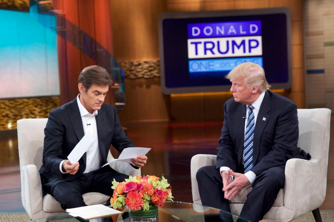 Talk show host Dr. Mehmet Oz says there's a simple solution to our health care debate; food.  From putting a tax on junk food to subsidizing the