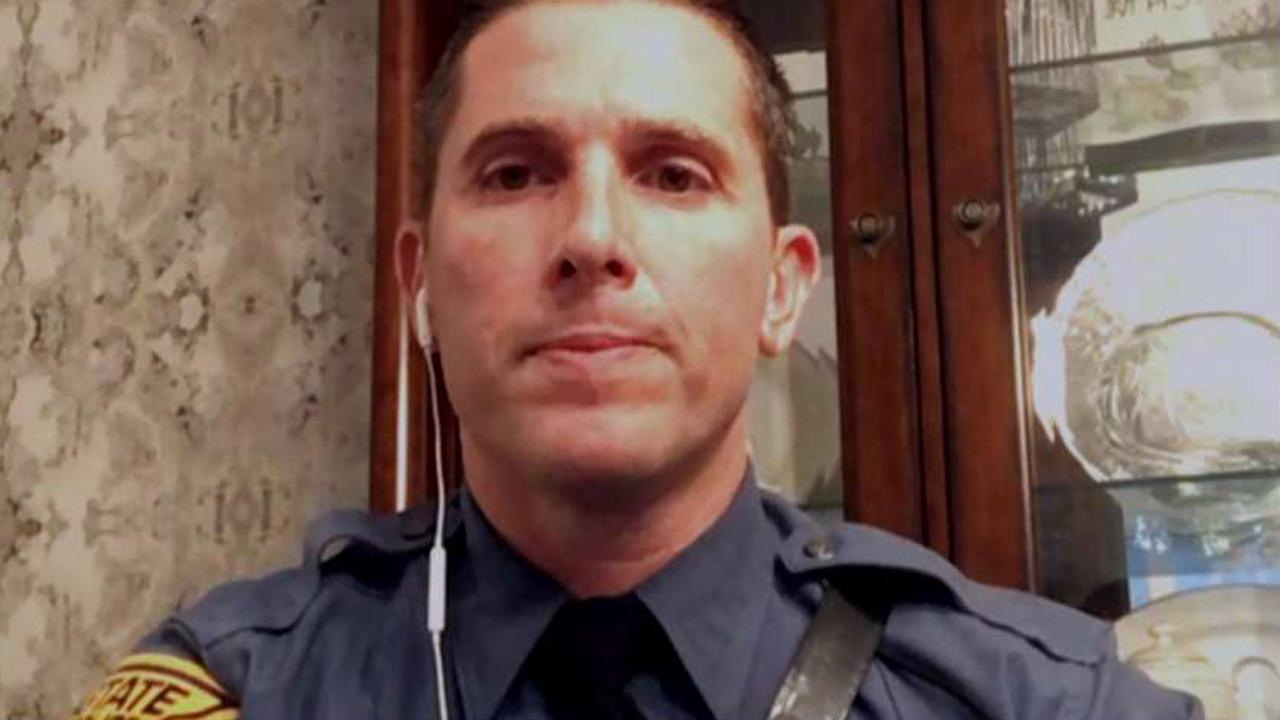 New Jersey State Trooper Dennis Palai details the account of his experience saving a man who was choking on a chicken wing at a restaurant.
