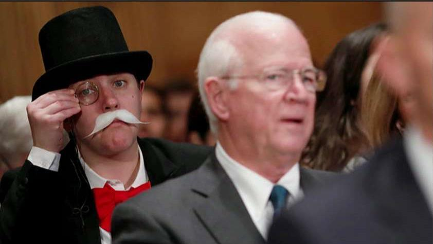 Public Citizen Arbitration Campaign Manager Amanda Werner on why she dressed up as 'Monopoly Man' during the Equifax Senate hearing.