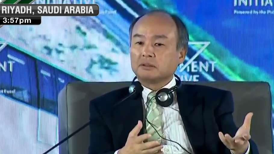 Softbank Group CEO Masayoshi Son discusses the future of robotics at the Saudi Arabia investment conference.