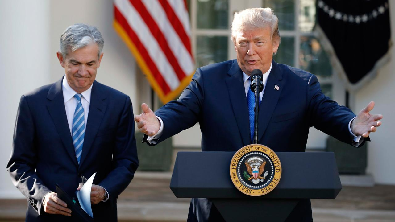 President Trump formally nominated Jerome Powell for chairman of the Federal Reserve.