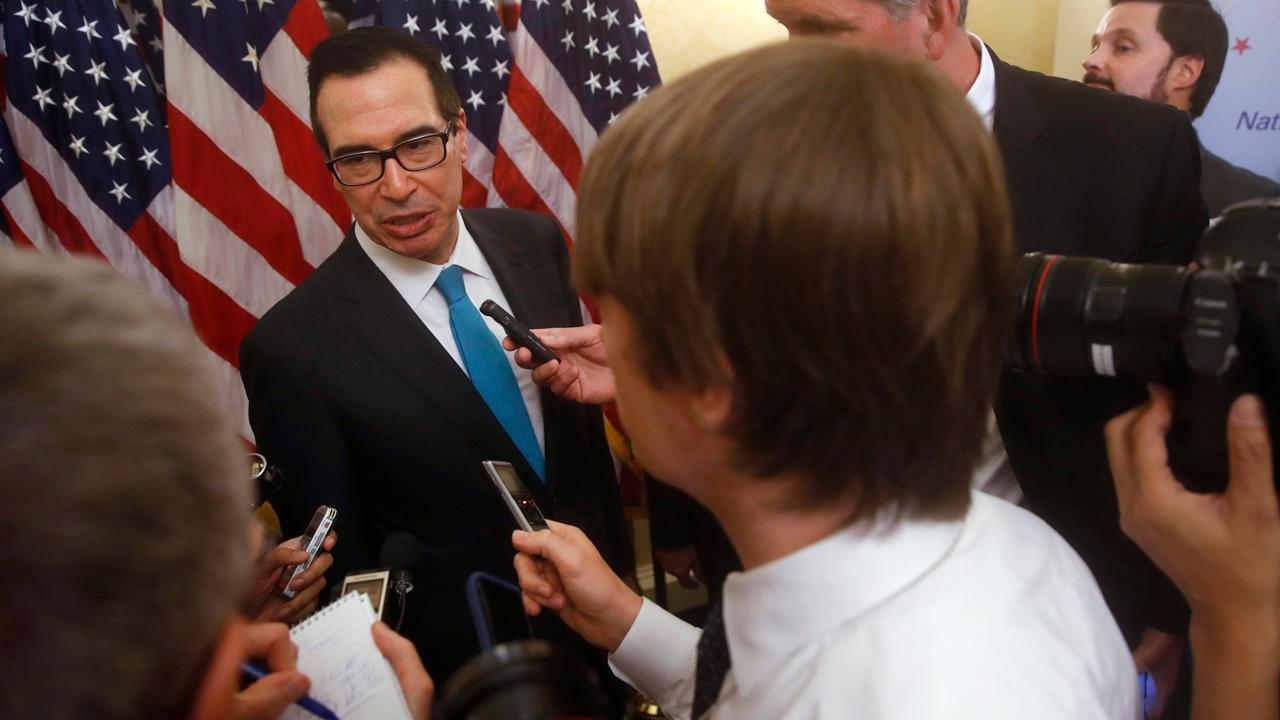 Treasury Secretary Steven Mnuchin, Sens. Mitch McConnell (R-KY) and Orrin Hatch (R-Utah) discuss the newly unfurled Senate Finance Committee tax reform plan, which comes right on the heels of the House Ways and Means Committee tax plan.