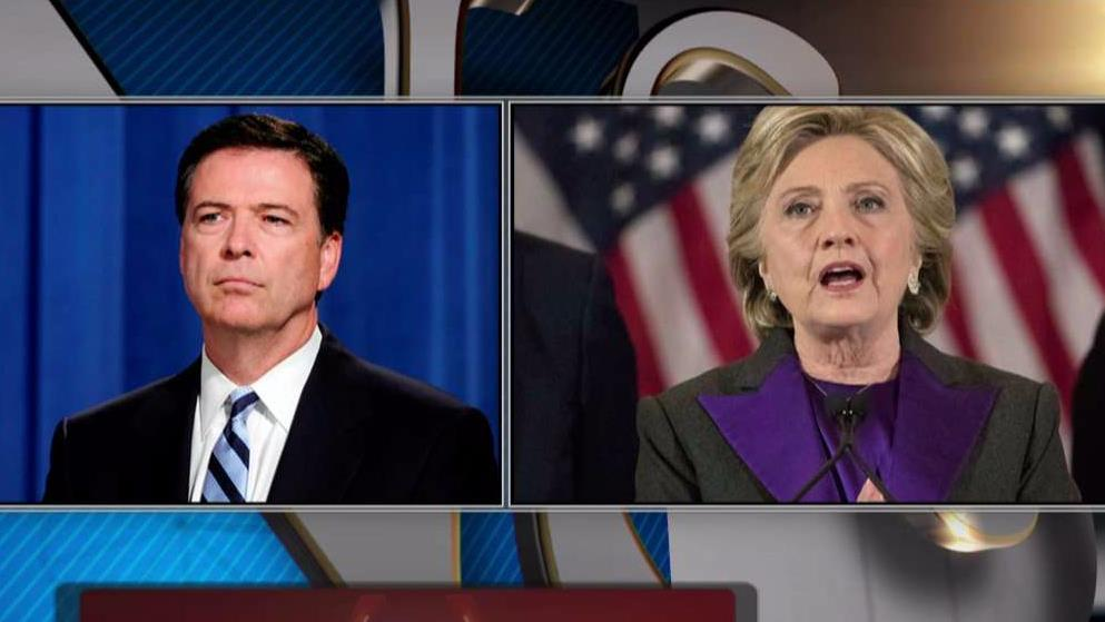 Fox News senior judicial analyst Judge Andrew Napolitano on former FBI director James Comey's draft statement calling Hillary Clinton's actions 'grossly negligent.'