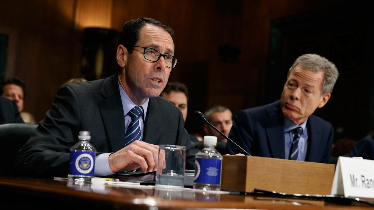 AT&T Chairman and CEO Randall Stephenson reacts to the Justice Department's lawsuit to block the proposed merger with Time Warner.