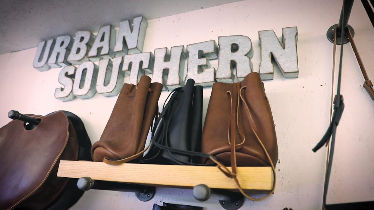 Open for Business: Two lifelong friends team up to create and market simple, classic leather bags for women