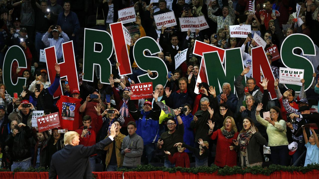 President Donald Trump said at his Make America Great Again rally in Pensacola, Florida that he looks forward to signing the tax reform bill.