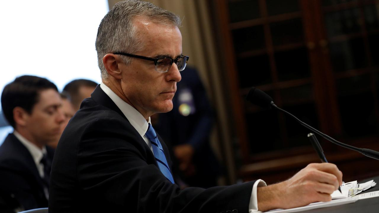 """Judicial Watch President Tom Fitton on acting FBI Director Andrew McCabe failing to appear before the House Intelligence Committee because of a """"scheduling error."""""""