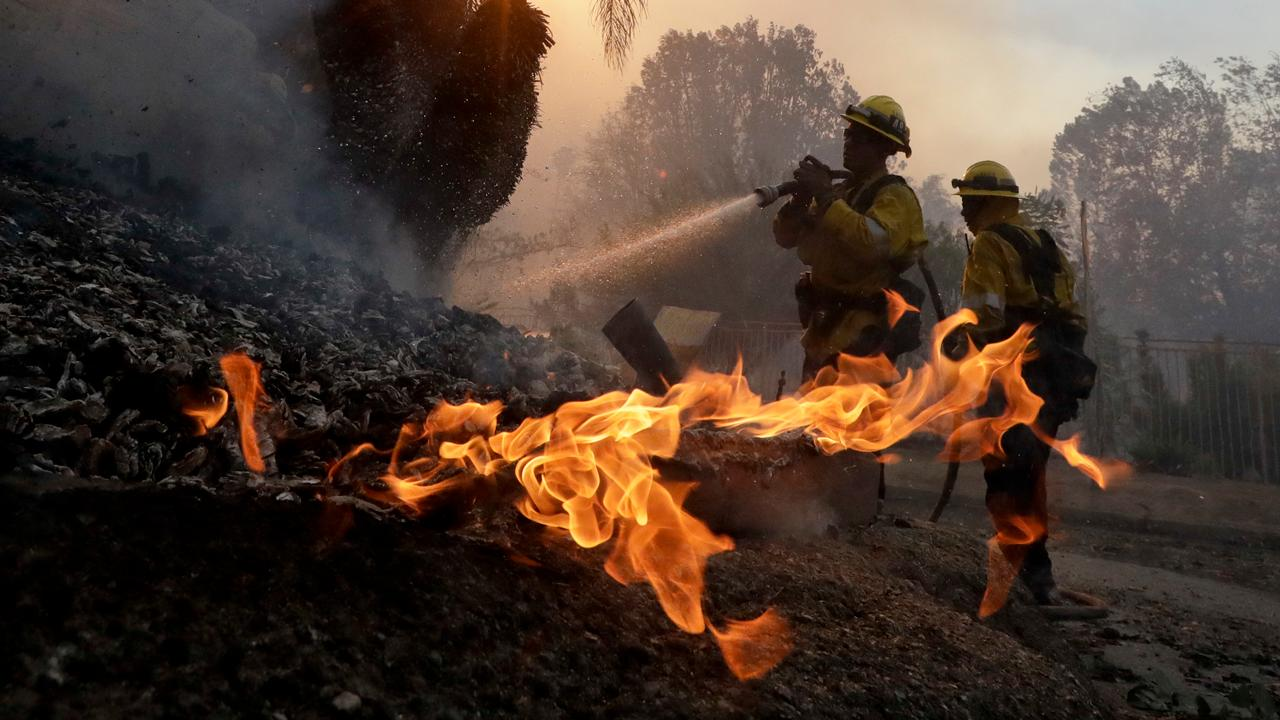 FBN's Hillary Vaughn with the latest on the wildfires in California.