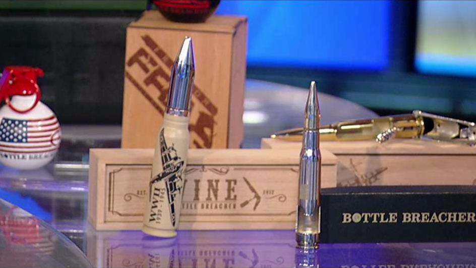 Bottle Breacher co-founders, retired Navy SEAL Eli Crane and wife Jen Crane, created a small business out of recycled, decommissioned .50 calibers.