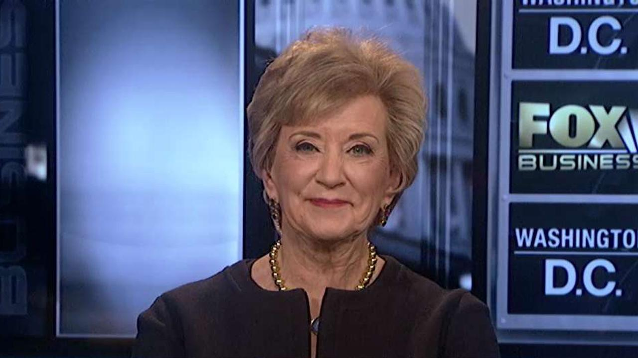 Small Business Administrator Linda McMahon discusses how the department's loan program has provided opportunities for veteran small business owners.