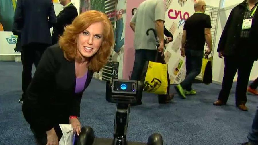 FOX Business' Liz Claman introduces Segway's personal robot, Loomo, from the Consumer Electronics Show in Las Vegas.