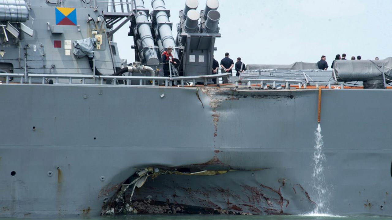 Former Naval Surface Forces Chief of Staff Capt. William Parker (Ret.) and former U.S. Air Force Official Rebecca Grant react to reports that the Navy is filing negligent homicide charges against the commanders of two ships involved in collisions last year.