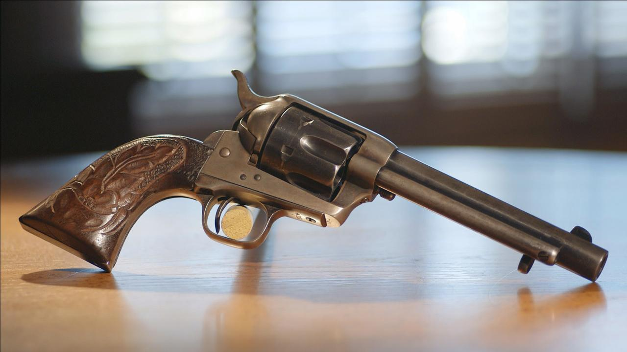 A daughter inherited her father's million-dollar cache of Colt revolvers from the Old West, including a rare 1876 Buntline Special.